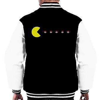 Pacman Pokeball Pokemon Men's Varsity Jacket