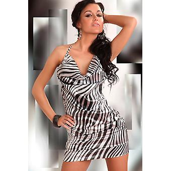 Eliora dress with zebra print