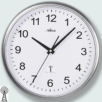 simple classic wall clock wall clock radio silver