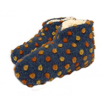 Bed shoes wool dots blue 36/37
