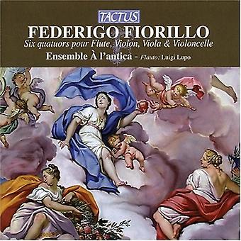 E. Fiorillo - Federigo Fiorillo: Seks Quatuors hæld fløjte, Violin, bratsch & Violoncelle [CD] USA import