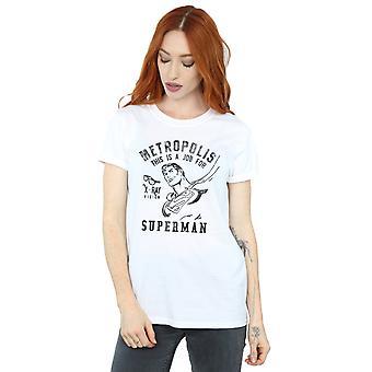 DC Comics Women's Superman X-Ray Boyfriend Fit T-Shirt