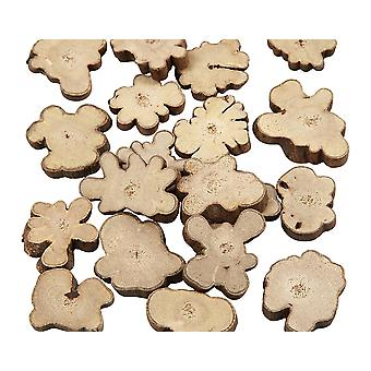 Rustic Natural Wood Log Pieces with Bark for Floristry & Adult Crafts - 15mm to 40mm