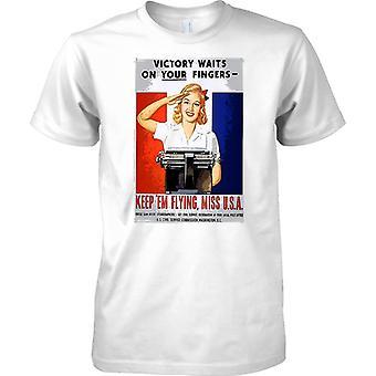 Halten Sie Em-fliegen - WW2 Propaganda Poster - alliierte Weltkrieg - Kinder T Shirt