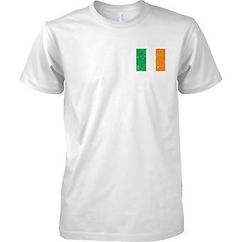 Irische gequält Grunge Effekt Flaggendesign - Mens Brust Design T-Shirt