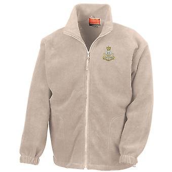 Royal Monmouthshire Royal Engineers Embroidered Logo - Official British Army Full Zip Fleece