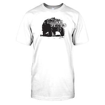 Kids t-skjorte DTG Print - oss hæren Humvee-