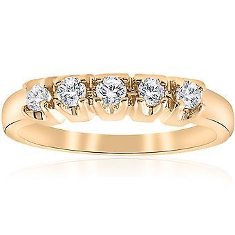 1/2ct Round Diamond Wedding Anniversary 14K Gold Ring