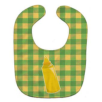 Carolines Treasures  BB8639BIB Backyard BBQ Mustard Baby Bib