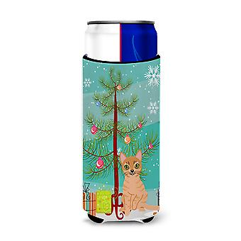 Australian Mist Cat Merry Christmas Tree Michelob Ultra Hugger for slim cans