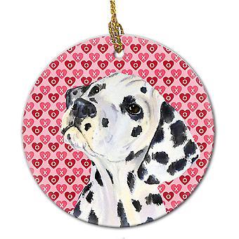 Carolines schatten SS4492CO1 Dalmatische keramische Ornament