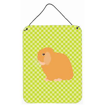 Holland Lop Rabbit Green Wall or Door Hanging Prints