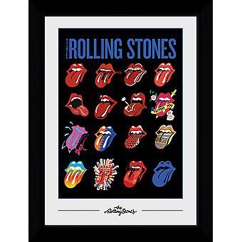 Rolling Stones Zunge Sammler Print 50x70cm