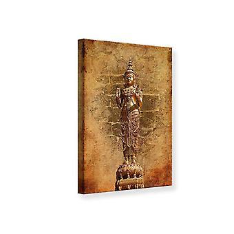 Leinwand drucken goldene Buddha-Statue