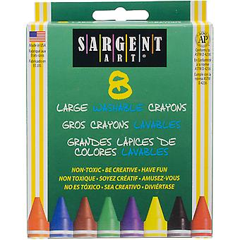 Sargent Art Large Washable Crayons-8/Pkg S35-0541