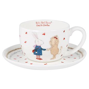 Ruby Red Shoes London Queen Cup and Saucer