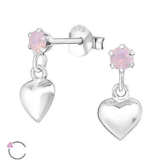Heart crystal from Swarovski® - 925 Sterling Silver Ear Studs