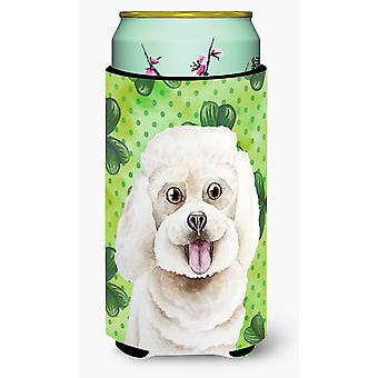 Bichon Frise Shamrocks Tall Boy Beverage Insulator Hugger