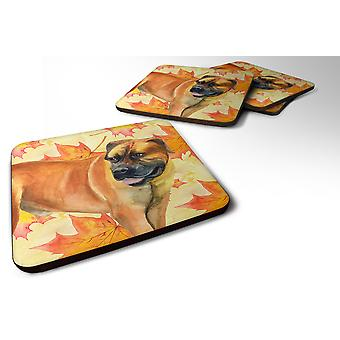 Set of 4 Boerboel Mastiff Fall Foam Coasters Set of 4