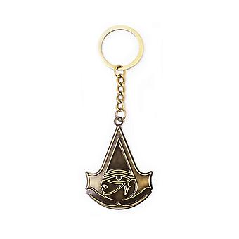 Assassins Creed Keyring Keychain Empire Crest Official PS4 Xbox Gold Metal