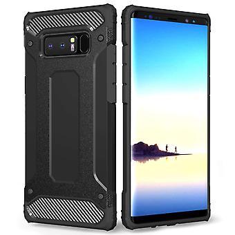 Samsung Galaxy Note 8 gepantserde schokbestendige Carbon Case - zwart