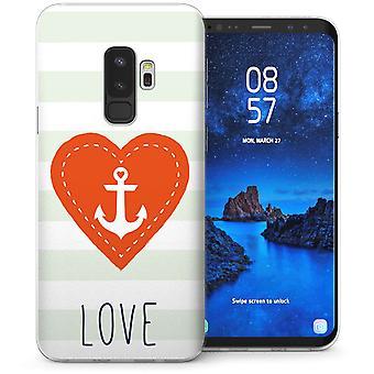 Samsung Galaxy S9 Plus anker kærlighed besked TPU Gel sag-hvid