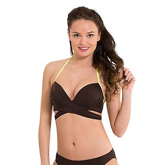 LingaDore 2910HB-146 Women's Journey Espresso Brown Solid Colour Swimwear Beachwear Bikini Top
