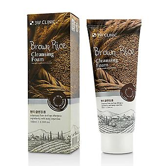 3W klinik Cleansing Foam - brune ris 100ml/3.38 oz