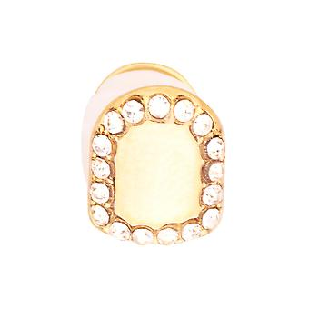10x8mm bling iced grill - one size fits all gold tooth Cap