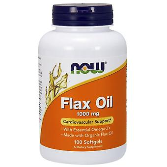 Now Foods Flax oil 1000 mg 100 soft capsules (Sport , Athlete's health , Omega 3-6-9)