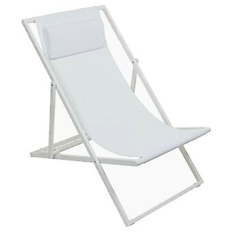 Bigbuy Garden chair in aluminum and white textile