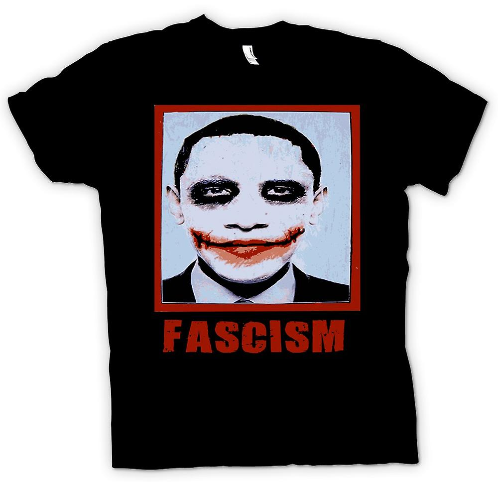 Mens t-shirt-fascismo di Obama