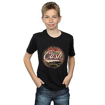 Johnny Cash Boys Colour Rock N Roll Circle T-Shirt