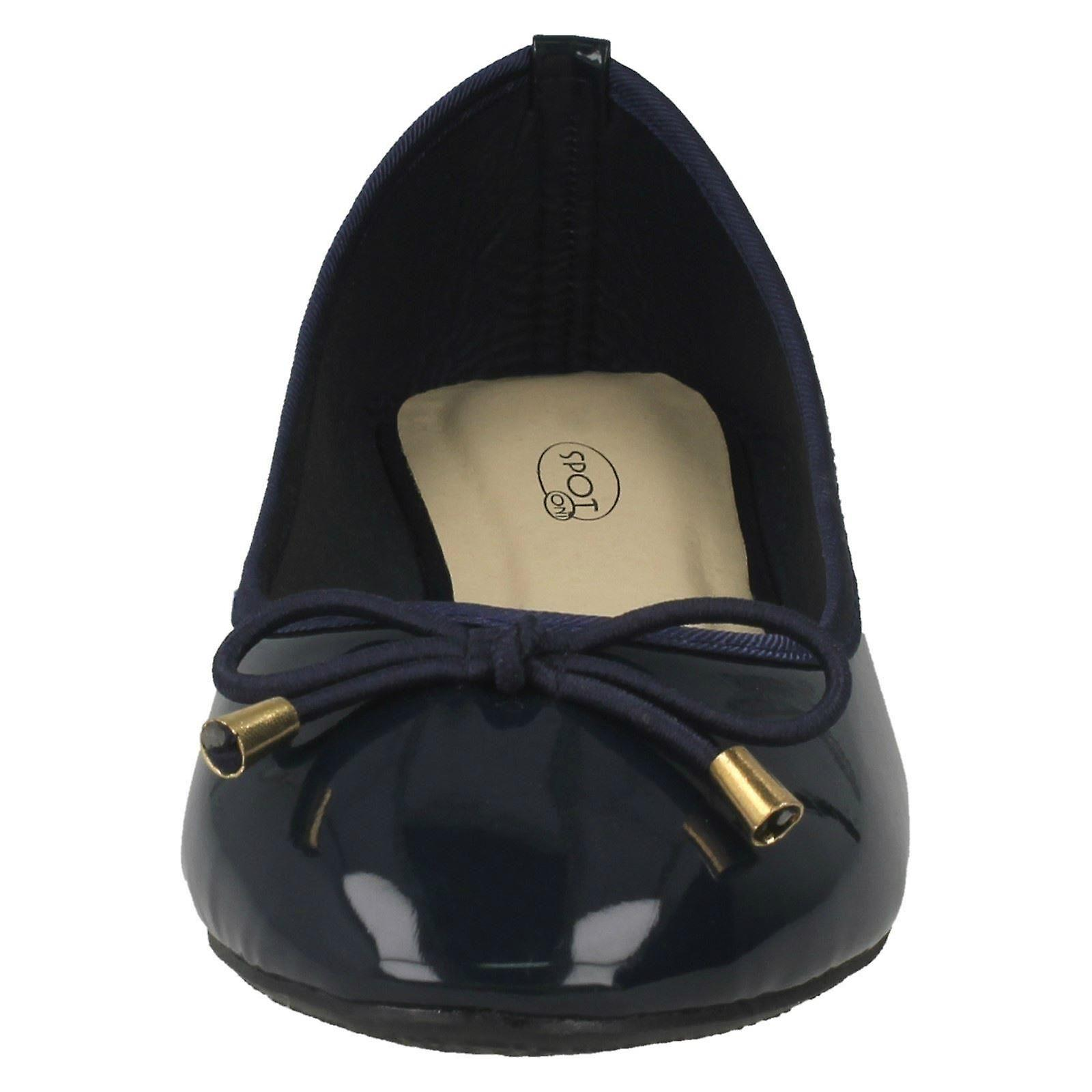 Ladies Spot On Patent Ballerina Shoes F80388 - Navy Synthetic Synthetic Synthetic Patent - UK Size 5 - EU Size 38 - US Size 7 686cea