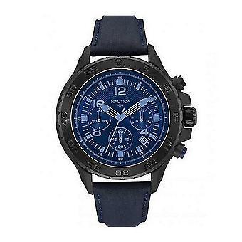 Nautica men's watch Chrono NAI21008G wristwatch leather