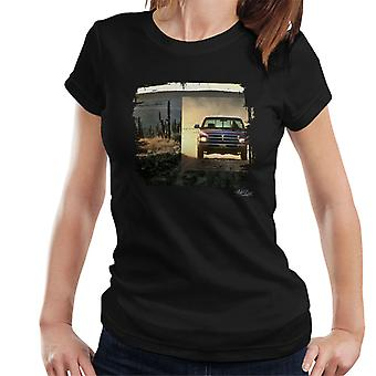 Dodge Truck Distressed Edge Dusty Road Women's T-Shirt