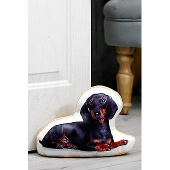 Adorable Dachshund Shaped Doorstop