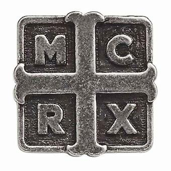 My Chemical Romance Pin Badge Band Logo Cross new Official Metallic Lapel