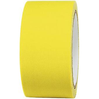 布テープ 80FL5025EC ネオン イエロー (L x 幅) 25 m x 50 mm TOOLCRAFT