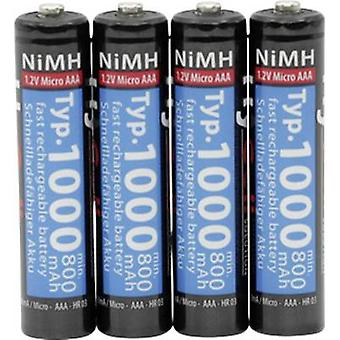 HyCell HR03 AAA battery (rechargeable) NiMH 1000 mAh 1.2 V 4 pc(s)