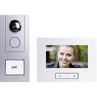 m-e modern-electronics Vistus VD 6710 Video door intercom Corded Complete kit Detached Silver, White