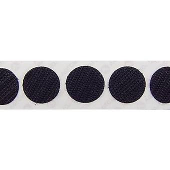 VELCRO® E28801933011425 Puntos con gancho y bucle stick-on Loop pad (a) 19 mm Negro 1120 ud(s)