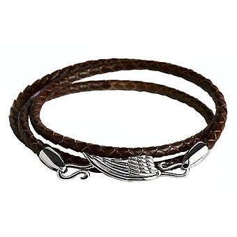 Simon Carter Wing Wrap Bracelet - Brown/Silver