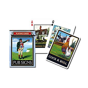 Pub Signs Set Of 52 Playing Cards + Jokers