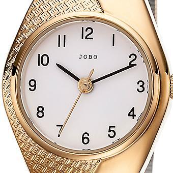 JOBO дамы наручные часы кварцевые аналоговые позолоченные часы дамы