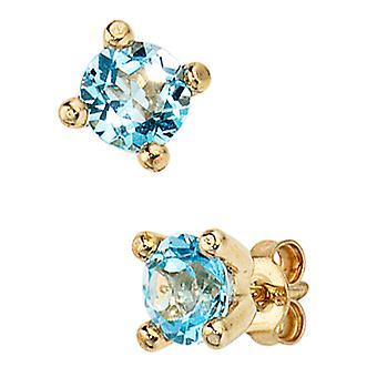 Earrings-333 /-g-Blue Topaz Earrings Blautopaz earrings gemstone jewelry