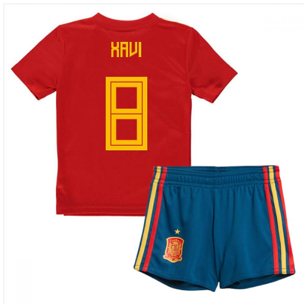 2018-19 Spain Home Mini Kit (Xavi 8)