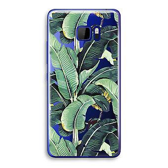HTC U Ultra Transparent Case (Soft) - Banana leaves