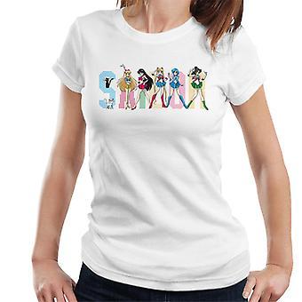 Sailor Moon Spice Girls Damen T-Shirt