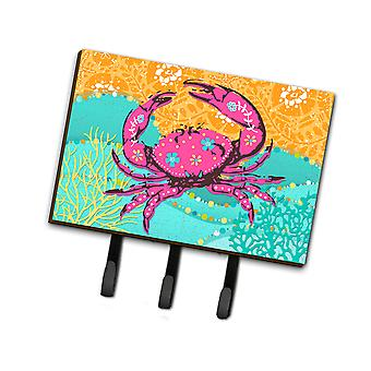 Carolines Treasures  VHA3028TH68 Coastal Pink Crab Leash or Key Holder